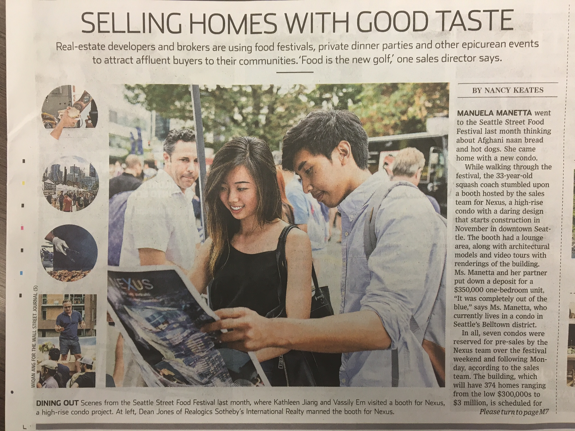 How food festivals sell homes nexus is featured in the for Wall street journal mansion