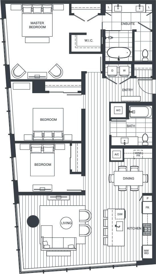 NEXUS Unit PH100 Floorplan
