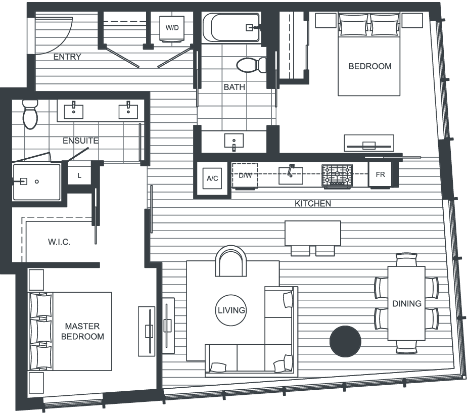 NEXUS Unit 2511 Floorplan