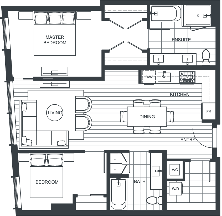 NEXUS Unit 2802 Floorplan