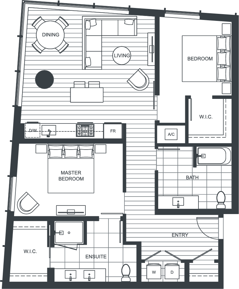 NEXUS Unit 3405 Floorplan