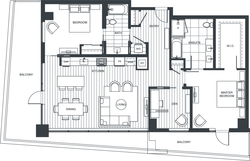 NEXUS Unit 3600 Floorplan