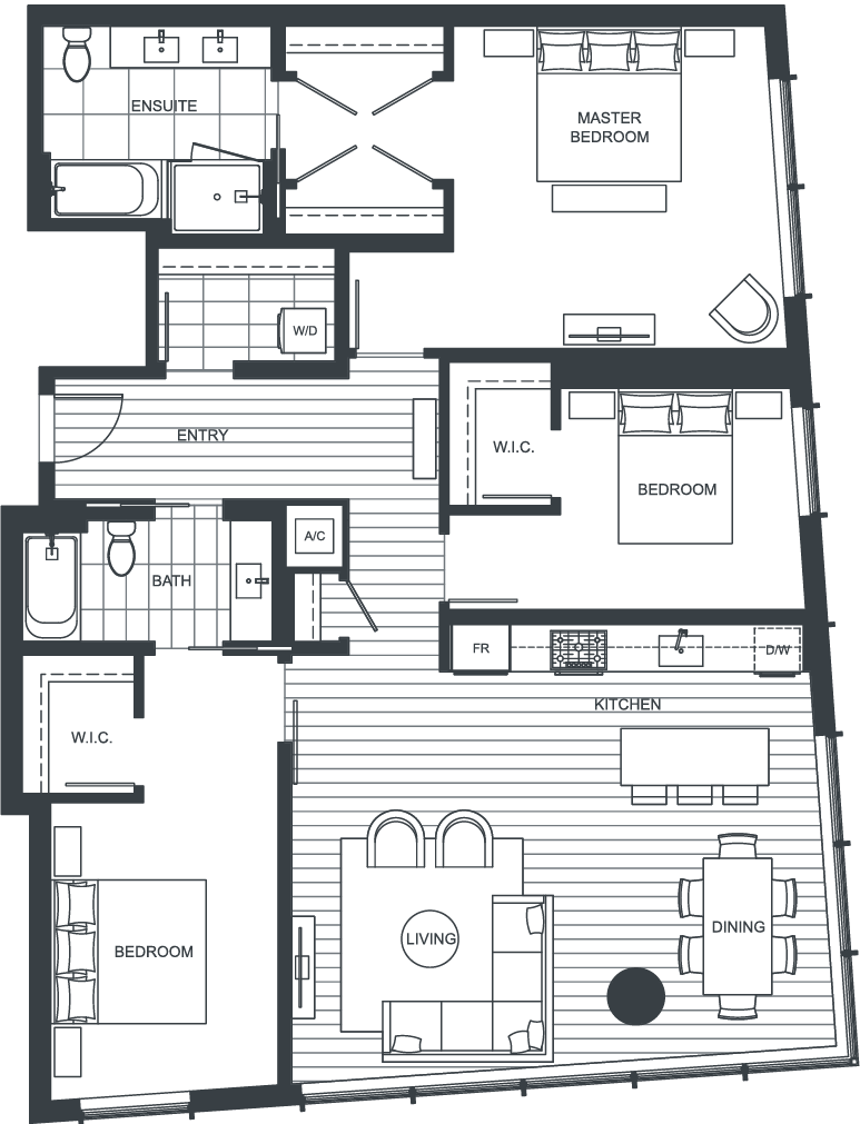 NEXUS Unit 3710 Floorplan