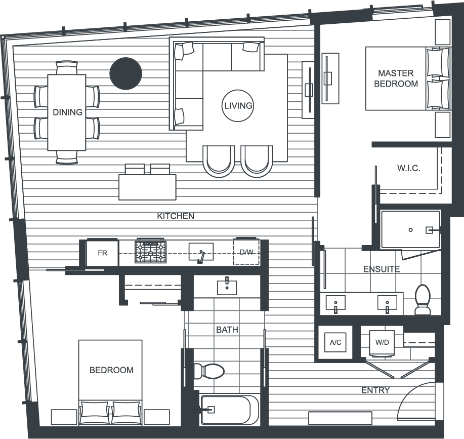 NEXUS Unit 3805 Floorplan