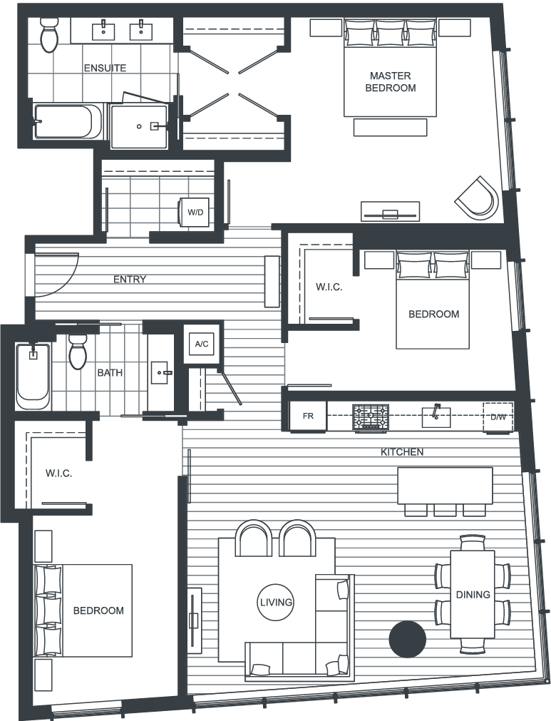 NEXUS Unit 3810 Floorplan