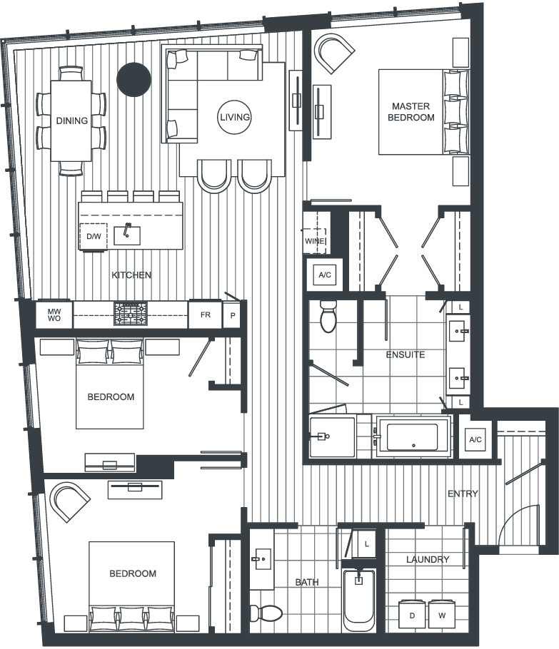 NEXUS Unit PH101 Floorplan