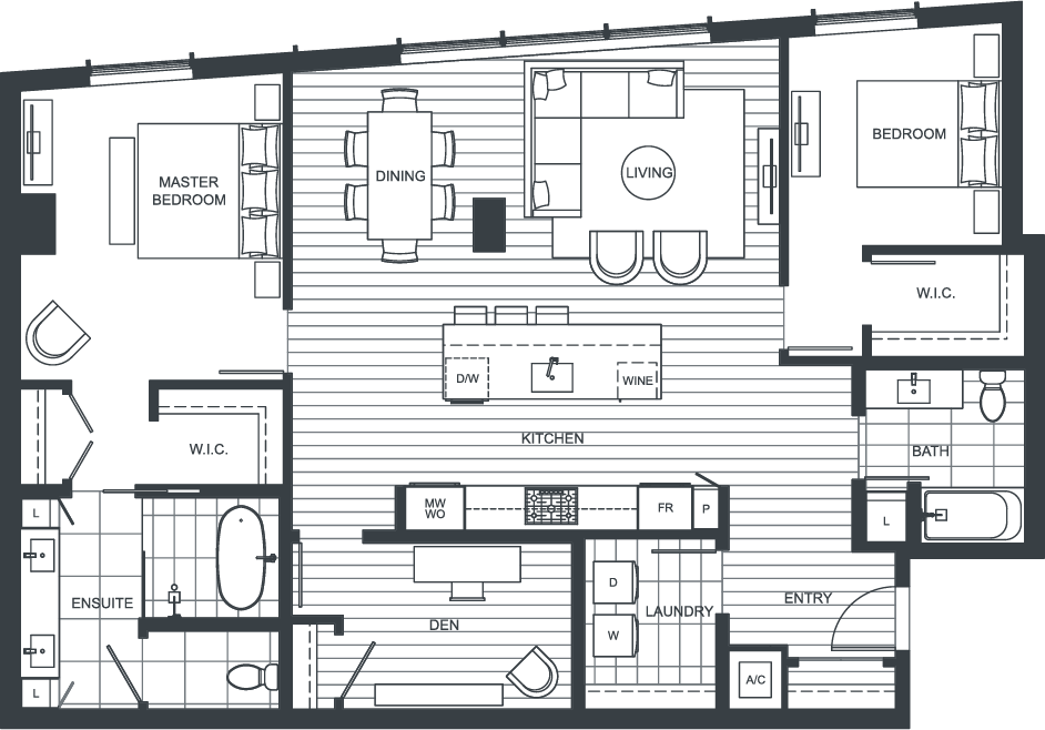 NEXUS Unit PH102 Floorplan