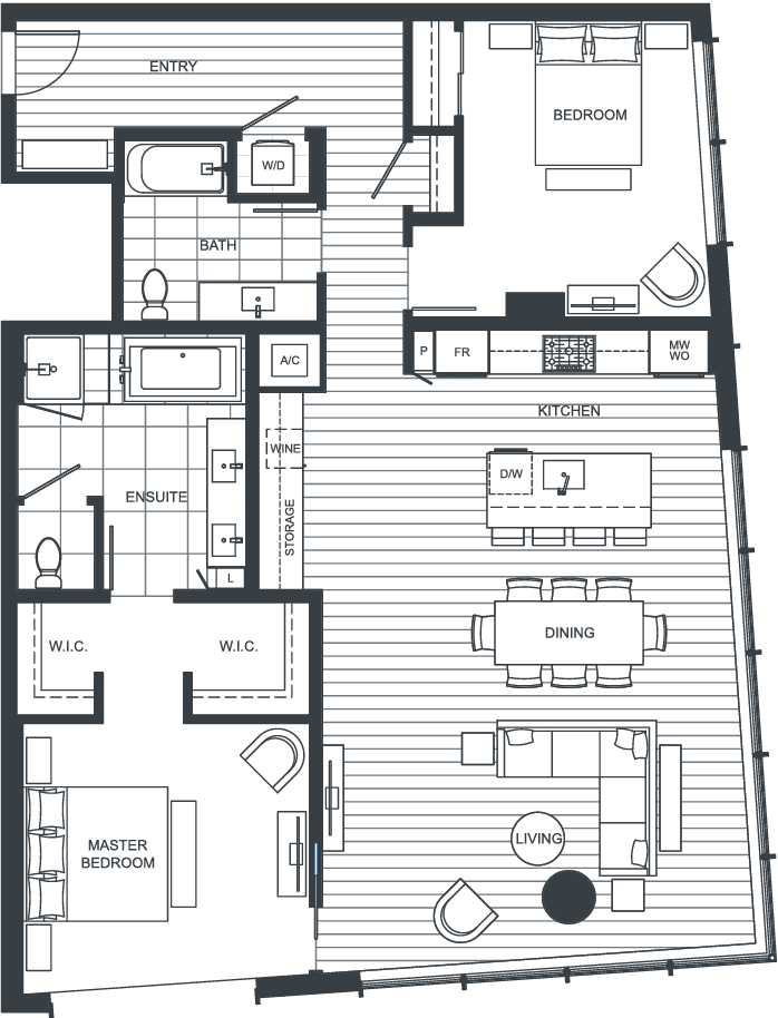 NEXUS Unit PH104 Floorplan