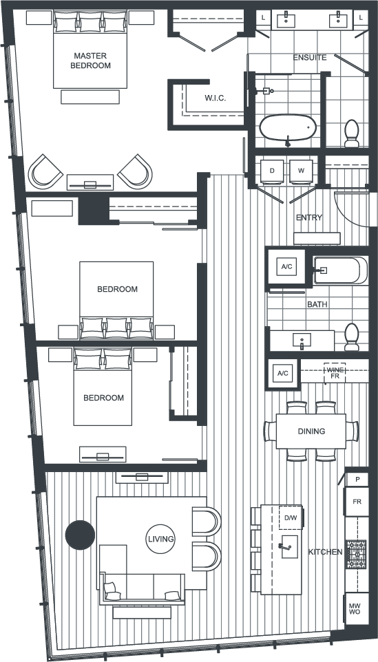 NEXUS Unit PH200 Floorplan