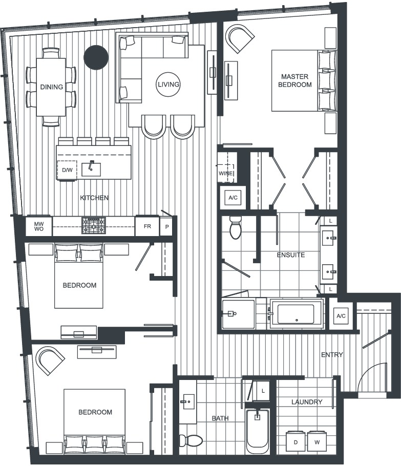 NEXUS Unit PH201 Floorplan