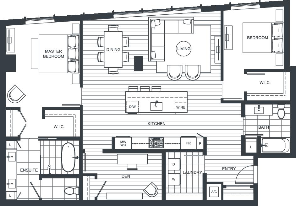 NEXUS Unit PH202 Floorplan