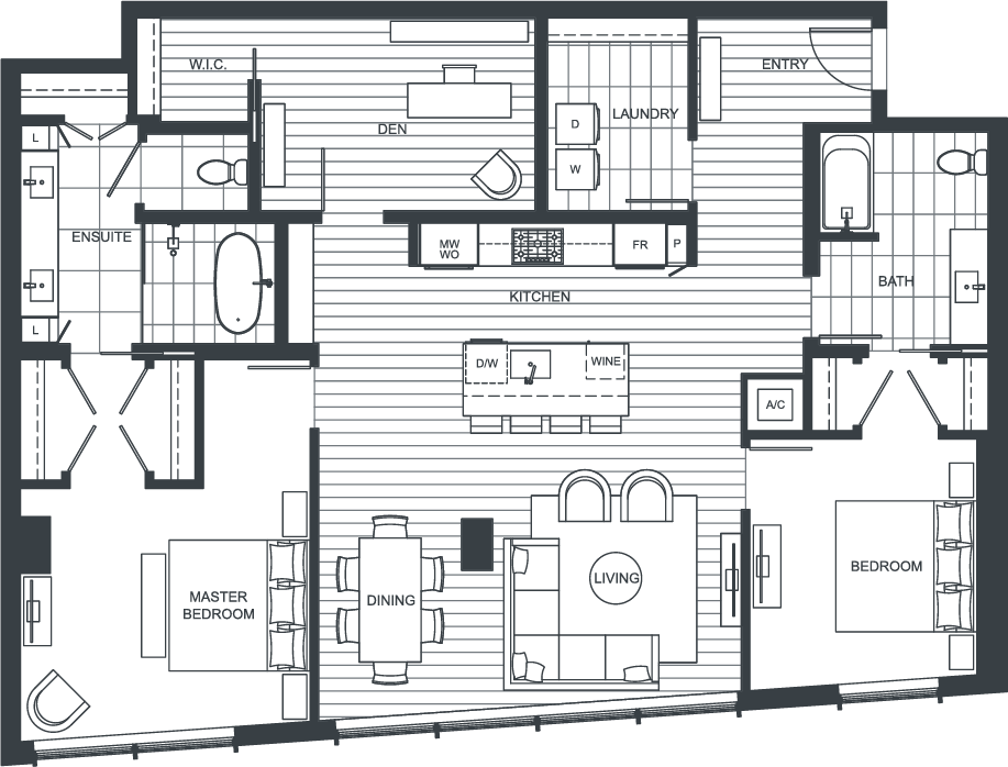 NEXUS Unit PH205 Floorplan